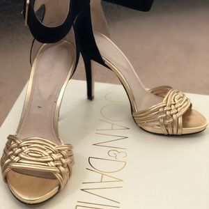 Beautiful black and gold Joanne and David sandal